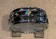 Vintage 1970and039s Ludwig Cut Badge Seamless Brass Shell Snare Drum 14 X 5 Rare