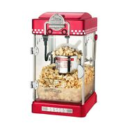 Vintage Red Popcorn Machine Table Top Retro Home Movie Theater Popper 2.5 Oz New