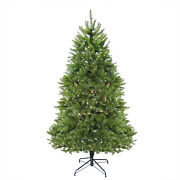 6.5and039 Pre-lit Northern Pine Full Artificial Christmas Tree -warm Clear Led Lights