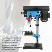 New 550w Electric Bench Top 9 Speed Pillar Drill Press And Table Stand 16mm Chuck