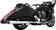 Freedom Racing Dual Exhaust System Chrome Body With Black Tip Mv00017