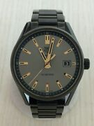 Tag Heuer Carrera Quartz Analog Stainless Steel Silver Gray Menand039s Watch [u0805]