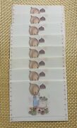 Betsy Clark Stationary 8 Folded Notecards/postcards And 1 Letter/envelope Unused