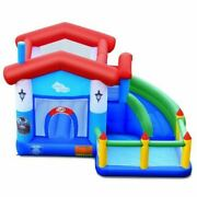 Durable Children's Inflatable Bounce Slide Castle Ball Pit Without Blower