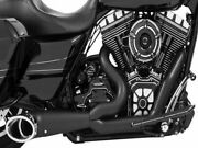 Freedom Turnout 2-into-1 Exhaust For Harley-davidson Fxcw Fxsbe 2008-2011 Black