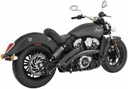 Freedom Radical Radius Crossover Exhaust With Star Tips Black - In00340