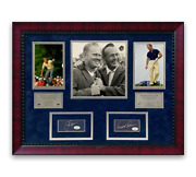 Arnold Palmer And Jack Nicklaus Signed Autographed Cuts Framed To 20x24 Jsa
