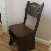 Vintage Farm Wooden Folding Step Stool Seating Home Kitchen Office Home Chair