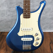 Electric Bass Yamaha Bv500 Shelby Blue Qn15060 Used 4st 20frets White Pickguard