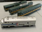 Lot Of 4. 3 Ho Athearn Northern Pacific Passenger Car And 1 Tyco Amtrak As Is.