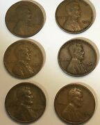 Us Lincoln Wheat Penny Lot - 1940, 1941, 1944, 1945, 1946, 1949