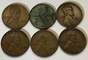 Us Lincoln Wheat Penny Lot - 1944, 1945, 1946 2 Of Each