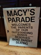 Macy's Thanksgiving Day Parade Signs Vintage, About 25 Years Old