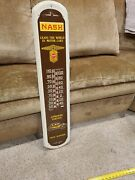 Nash Automobile Thermometer Leads The World In Motor Cars Sign Gas Oil Taylor