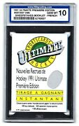 1991 Ultimate Premier Edition Win Sweepstakes Booklet-french Isa 10 52763637
