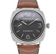 Radio Meal Black Seal Pam00183 Hand Winding Menand039s Watch Y105821