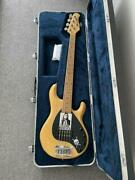 Used 1998 Fender Ernie Ball Music Man Stingray 5 Bass Guitar With Hard Case