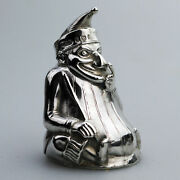Rare And Fine Solid Silver Novelty Mr Punch Pepper Shaker William Sparrow C.1903