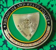 Rhode Island State Police Department Gold Plated Coin