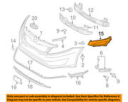 Kia Oem 2013 Optima Front Bumper Grille Grill-side Molding Right 865522t020