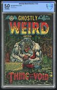 Ghostly Weird Stories 123 Cbcs 5.0 Star Pub. 6/54 Golden Age L.b. Cole Cover