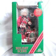 Animated Christmas Mrs. Claus Musical Holiday Scene 1993 New Open Box