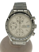Omega Speedmaster Date Analog Stainless Steel Silver Automatic Menand039s Watch U0807