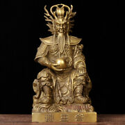 Chinese Temple Copper Brass Dragon King Yutu Dragon Lord King Of Dragons Statue