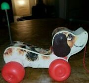Vintage Fisher Price Little Snoopy Puppy Plastic Pull Toy 1965 2034