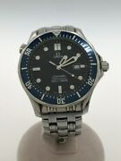 Omega Seamaster Diver 300m Analog Stainless Steel Blue Silver Menand039s Watch U0807