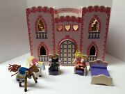 Melissa And Doug Pink Princess Castle With King Queen Horses And Some Furniture
