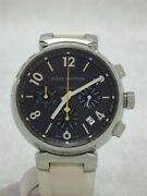 Louis Vuitton Tambour Chrono Self-winding Rubber Stainless Menand039s Watch [u0808]