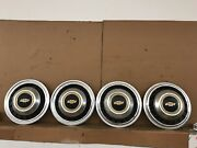 """Vintage Rare 75 76 77 78 Chevy Truck Dual 16"""" Hubcaps Wheel Covers Set Pickup"""