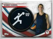 Rare 2020 Topps Olympics Robbie Hummel Event Pin Card /50 Usa 3 On 3 Hoops 2021
