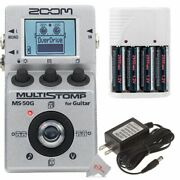 Zoom Ms-50g Multistomp Guitar Pedal + Ac Adapter + Battery And Charger