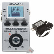 Zoom Ms-50g Multistomp Guitar Pedal + Zoom Ad-16a/d Ac Adapter