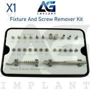 Fixture And Screw Remover Kit Removal Ratchet Extraction Instrument Tool Dental