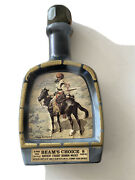"""Vintage 1979 Jim Beam's Choice Frederic Remington """"indian Trapper"""" Decanter"""