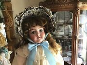 Excellent 27.5andrdquoheinrich Handwerck 1880and039s Antique Bisque Jointed German Doll 109
