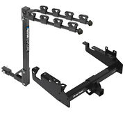 Trailer Tow Hitch For 19-21 Ford F-350 F-450 F-550 Cab And Chassis 4 Bike Carry
