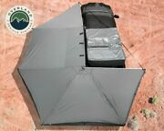 Ovs Awning Tent 270 Degree Driver Side Dark Gray Cover With Black Cover Nomadic