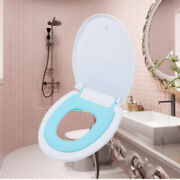 Potty Elongated Toilet Seat Adult Child V-shaped Bidets Toilet Seat W/ Cover