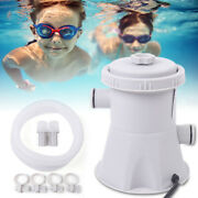 20w Swimming Pool Filter Pump Water Electric Cartridge Filter Tube Cleans Pumps