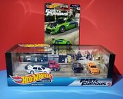 2020 Hot Wheels Fast And Furious Garage Set Diorama Walmart Exclusive And Eclipse