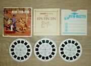 Rin-tin-tin 1955 Viewmaster Reels Set B467 Complete 3 Reels And Booklet I009