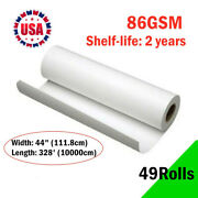 49roll 86g 44x328andacute Dye Sublimation Paper For Heat Transfer Printing