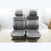 2006-2010 Bmw E60 M5 ///m Multifunction Climate Front Seats Black Merino Leather