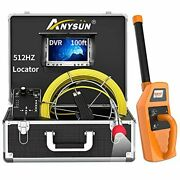 Sewer Camera With Locator, Anysun 100ft Inspection Camera With 512hz Sonde Trans