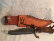 """Nib Colt Bowie Knife And Sheath Ct410 Limited Edition 8"""" Blade With Nra Logo"""