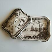 Used Wedgwood Frog Service Tray With Lid 25cm 20cm H8cm Size World Only 500
